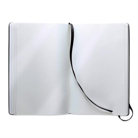 AR1804: Σημειωματάριο Α5 με 96 σελίδες και κάλυμμα από μαλακό PU. Σε μαύρο χρώμα