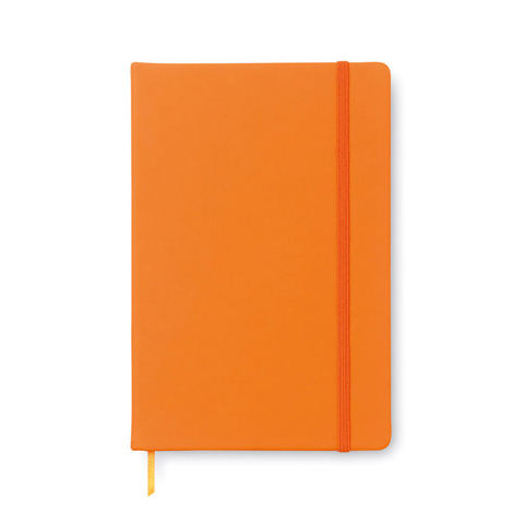 AR1804: Σημειωματάριο Α5 με 96 σελίδες και κάλυμμα από μαλακό PU. Σε πορτοκαλί χρώμα