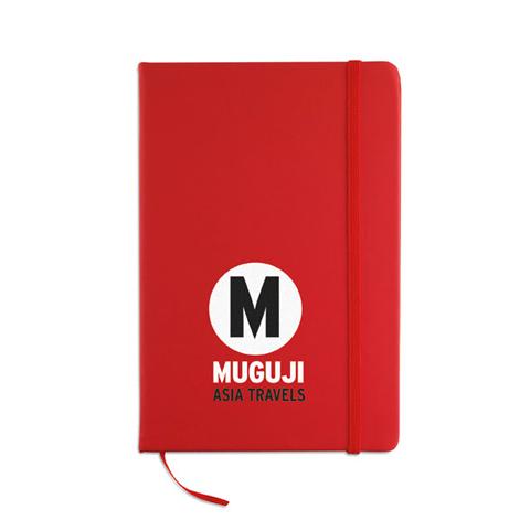 AR1804: Σημειωματάριο Α5 με 96 σελίδες και κάλυμμα από μαλακό PU. Σε έντονο κόκκινο χρώμα