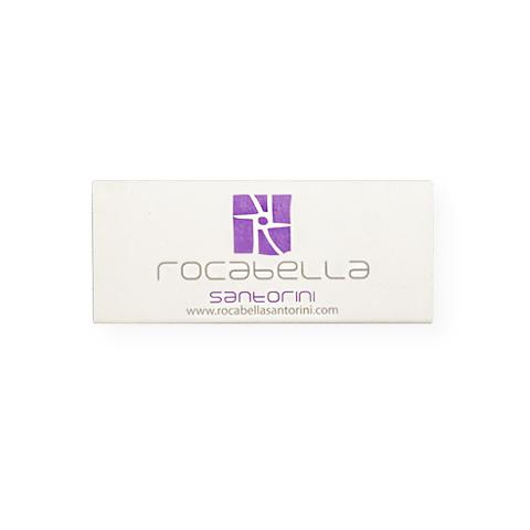 "KX5520: Σπίρτα διάστασης 55x23x7 mm. Εκτύπωση για το ""Rocabella"""
