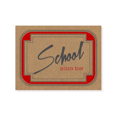 Σουπλά μιας χρήσης για το Schooll Pizza Bar