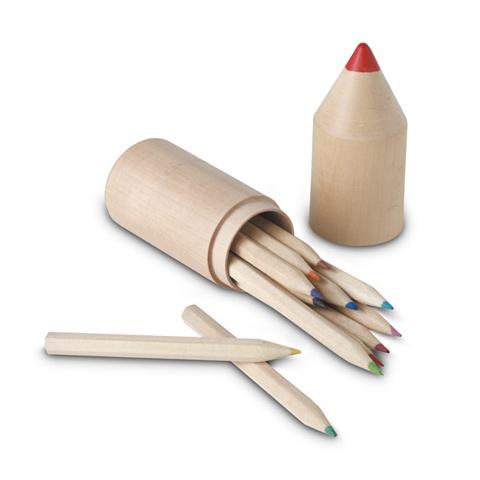 IT2691: 12 ξύλινα μολύβια σε ξύλινο κουτί με σχήμα μολυβιού.