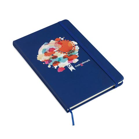 AR1804: Σημειωματάριο Α5 με 96 σελίδες και κάλυμμα από μαλακό PU. Σε σκούρο μπλε χρώμα
