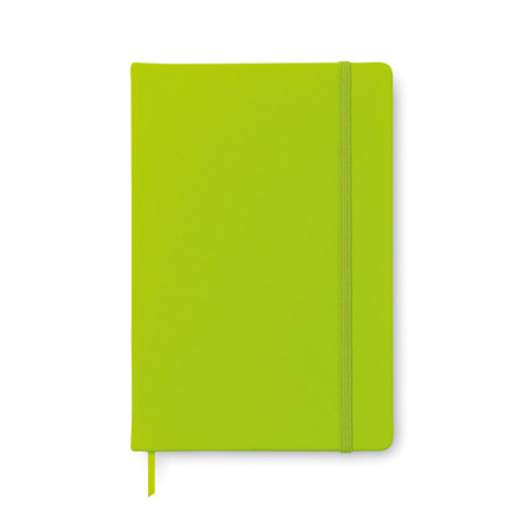 AR1804: Σημειωματάριο Α5 με 96 σελίδες και κάλυμμα από μαλακό PU. Σε ανοιχτό πράσινο χρώμα