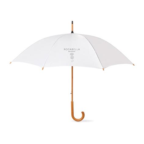 ομπρέλα με ξύλινο χερούλι
