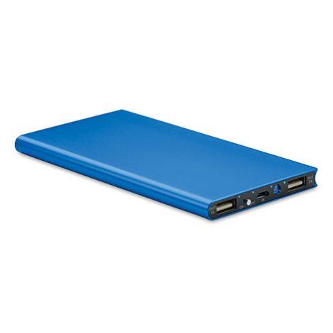 Φορητός σταθμός φόρτισης Powerflat8 MO8839 σε μπλε χρώμα. Από την Xerikos Advertising Gifts