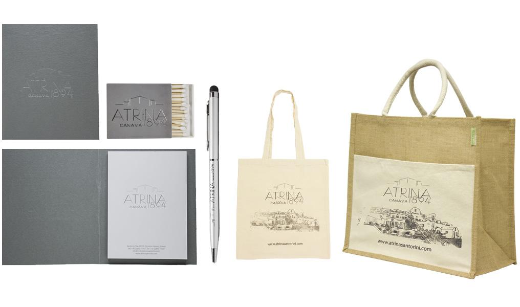 Τσάντες, στυλό, μπλοκ και σπίρτα για το Cavotagoo. Σύγχρονες και έξυπνες λύσεις διαφημιστικών και εταιρικών δώρων για ξενοδοχειακές επιχειρήσεις από την Xerikos Advertisign Gifts.