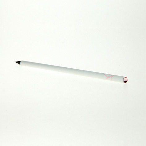 White Pencil with detail. Xerikosgifts