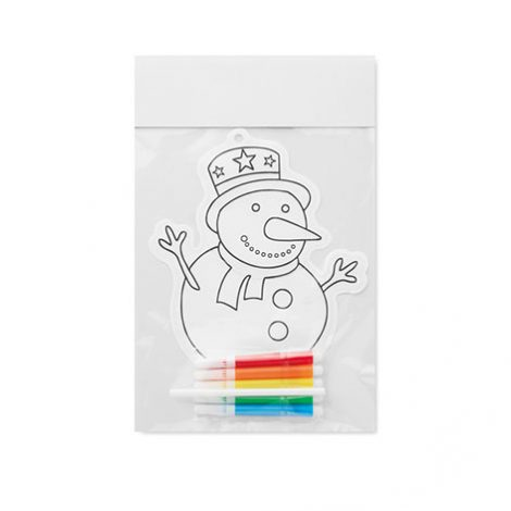 Image of snowman colouring baloon. Xerikosgifts
