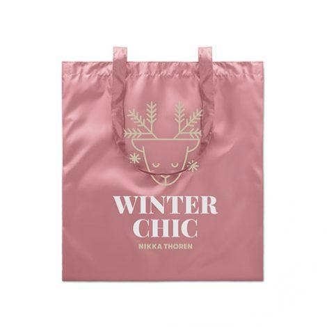 Image of metallic shopping bag. Xerikos gifts