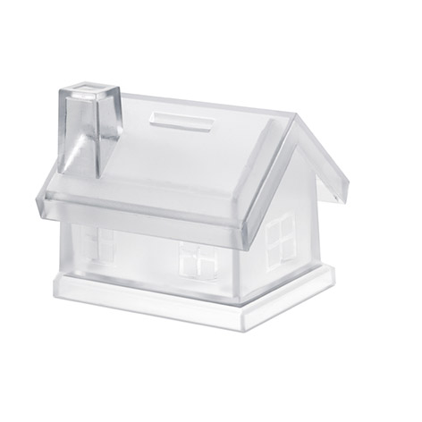 Image pf mybank house shaped coin bank. Xerikosgifts
