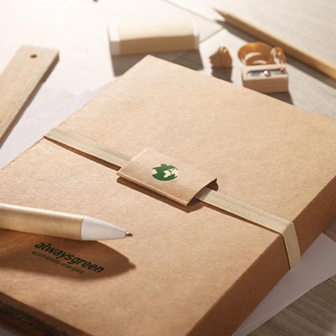 Image of stationary set with 8 pieces in folder. Xerikosgifts
