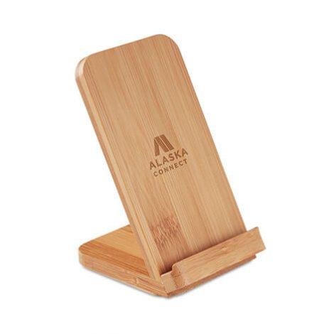 ασύρματος φορτιστής bamboo / εταιρικά δώρα xerikos gifts